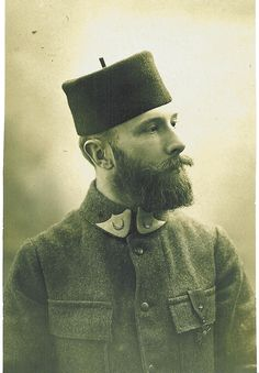 """French Soldier from a Moroccan Tirailleurs unit .WW1. Tirailleur literally means a shooting skirmisher in French from tir—shot. The term dates back to the Napoleonic period where it was used to designate light infantry trained to skirmish ahead of the main columns. Subsequently """"tirailleurs"""" was used by the French Army as a designation for infantry recruited in the French colonial territories during the 19th and 20th centuries or for metropolitan units serving in a light infantry role."""