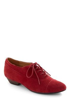 Cute and simple red oxford