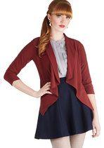 Marketing Maven Blazer in Burgundy | Mod Retro Vintage Jackets | ModCloth.com