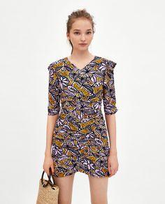 Image 1 of SHORT GATHERED DRESS from Zara