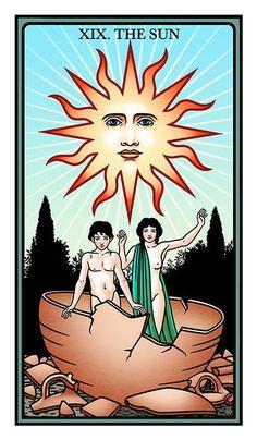 The Raziel Tarot: the Secret Book of Adam and Eve (Robert Place & Rachel Pollack) - - If you love Tarot, visit me at www.WhiteRabbitTarot.com