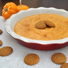 Easy, sweet pumpkin dip tastes just like pumpkin pie. Great for a fall appetizer or dessert. Serve with ginger snaps, apples, or graham crac...