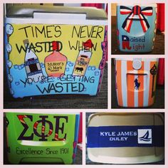 """Making your boyfriend a painted cooler """"just because."""" TSM."""