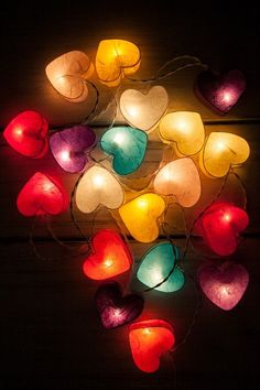 35 Bulbs Colorful Valentine mulberry paper Heart Lanterns for wedding party & decoration String Lights Outdoor, Outdoor Lighting, Donia, Metal Pergola, Heart Wallpaper, Graduation Pictures, Purple Aesthetic, Paper Lanterns, Christmas Wallpaper