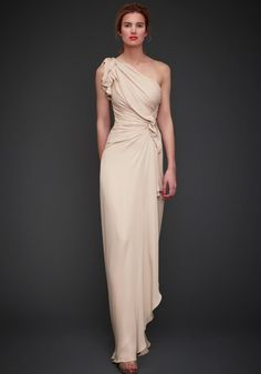 Love the pale gold/cream color.  Hate the gown