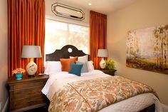 The best ideas for decorating small bedroom designs include being very deliberate in making your choices, and the efficient use of space. When trying to