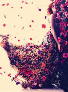 Karen Elson by Alexi Lubomirski for Harper's Bazaar UK