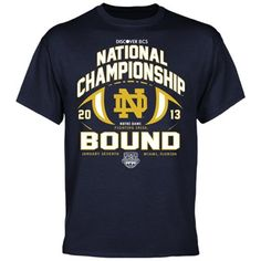 Notre Dame Fighting Irish 2013 BCS National Championship Game Bound Football T-Shirt!