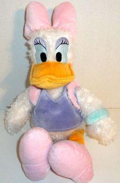 "DISNEY PARKS DAISY DUCK DONALD'S GIRLFRIEND 15"" STUFFED ANIMAL PLUSH DOLL TOY  #Disney"