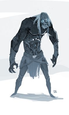 quick doodle of I guess my version of a white walker. It didnt start off as a white walker but it sort of headed that way by itself Bob the whitey Game Of Thrones Illustrations, Cartoon Illustrations, Game Of Thrones Instagram, Monster Musume, Still Photography, The Revenant, Winter Is Coming, Character Design Inspiration, Lotr