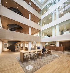 Hofman Dujardin Architects have completed the renovation and interior design of the offices of law and notary firm BarentsKrans, located in The Hague, The Netherlands