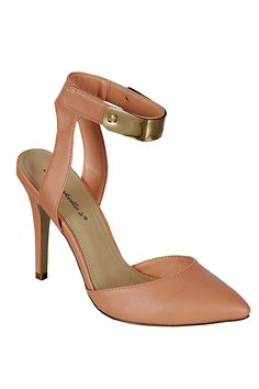 ANKLE STRAPED PUMP-Nude