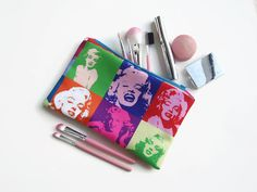 Marilyn Monroe Zip Pouch Cosmetics Bag or Pencil Case by olganna, £10.00
