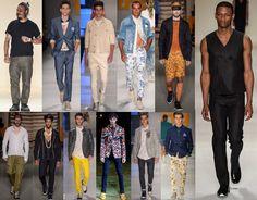 O Verão 2016 apresentado na São Paulo Fashion Week aposta em dois estilos: um bastante sóbrio, com o preto como grande destaque e o outro, um homem bem colorido, que não tem medo de estampas, inclu...