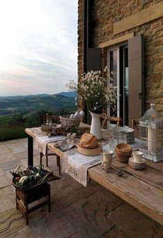 How To Enhance Your Rustic Home Decorating Theme? – Rustic Home Decor Interior Exterior, Exterior Design, Outdoor Living, Outdoor Decor, Northern Italy, House Goals, Architecture, Rustic Decor, Rustic Italian Decor