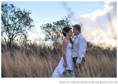 A sunset photo from classic wedding photographs Casa Mia Pretoria.