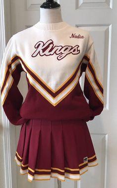 Real CHEERLEADING Costume Uniform Pleated Skirt + Sweater Halloween Unworn Nice! #pepthreads #CompleteOutfit #Dressup #halloweencostumes #fashion #cheerleading #cheerleader #Set #shopping #ebay #your_score