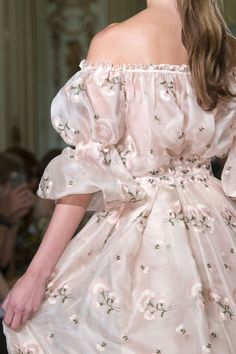 M'O Bridal & Wedding: Luisa Beccaria Off-The-Shoulder Pink Blouse and High Waist Floral Embroidered Skirt from our curated Bridesmaids Collection trunkshow via Luisa Beccaria