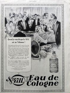 Eau de Cologne 4711 original advertisement vintage by OldMag