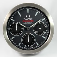 Omega Speedmaster Grey Face Wall Clock for Advertisers and Authorized Dealers