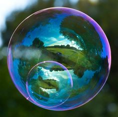 Photos of Magical Soap Bubble Reflections