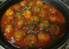 Albóndigas de pollo Puerto Rican Recipes, Rabbit Food, Food For Thought, Italian Recipes, Main Dishes, Chicken Recipes, Food And Drink, Appetizers, Yummy Food