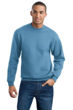 True to Size Apparel - Mens Super Sweats Crew Neck Sweatshirt, Sale: $11.58  Features include a 9.5-ounce, 50/50 cotton/poly NuBlend pill-resistant fleece, coverseamed neck, armholes and waistband, high-stitch density for smooth-printing canvas, 1x1 rib knit with spandex in crewneck, cuffs and waistband and concealed seam on cuffs #JerzeesSweatshirt #JerzeesMensSweatshirt http://truetosizeapparel.com/mens-super-sweats-crew-neck-sweatshirt/