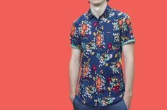 Printed 'Cali' Short Sleeve Shirt by HEW clothing $119.00 SHOP NOW at hewclothing.com