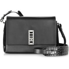 Proenza Schouler PS Elliot Leather and Suede Crossbody Bag ($1,560) ❤ liked on Polyvore