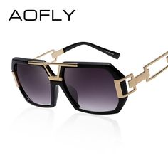 AOFLY Square Women Sunglasses Women Brand Designer Fashion Sun glasses Vintage Glasses Hollow Legs Oculos de sol feminino UV400