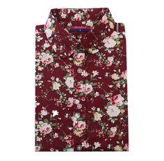 Originální dámská košile se vzorem – bordová s květinami – Velikost L Na  tento produkt se 0dff834d0d
