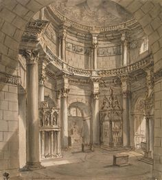 Clerisseau_Charles-Louis_-_Interior_of_the_Jupiter_Temple_Mausoleum_in_the_Palace_of_Emperor_Diocletian_in_Spalato_-_OR-2351.jpg (1324×1478)