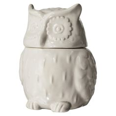 Threshold™ Stoneware Owl Cookie Jar - White at Target on clearance Owl Cookies, Cute Cookies, Ceramic Cookie Jar, Cookie Jars, Cookie Cutters, Food Storage Containers, Jar Storage, Recycled Metal Art, Metal Art Sculpture