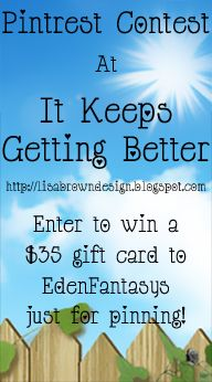 Pintrest Contest - enter to win $35 to EdenFantasys just for pinning :)