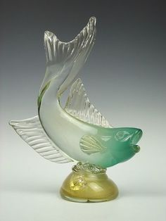Murano glass fish sculpture: