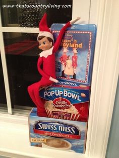 100+ ideas for your Elf on the Shelf!     http://thatscountryliving.com/2011/10/master-list-ideas-for-the-elf-on-the-shelf/