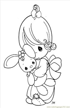 free printable coloring image Precious Moments 1 (6)