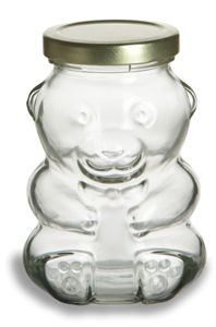 Bear Glass Jar
