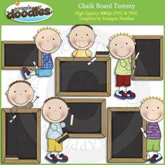 Chalk Board Tommy Clip Art Download