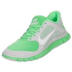 separation shoes 1e1a6 e7fc1 Womens Nike Free 4.0 V3 Running Shoes   FinishLine.com   Pure Platinum White