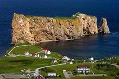 Perce Rock On Gaspe Peninsula In Quebec, Canada Quebec Montreal, Quebec City, O Canada, Canada Travel, Nova Scotia, Ottawa, Province Du Canada, Alaska, Bas Saint Laurent