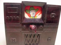 IDEAL-Vintage-1950s-Dollhouse-TV-CABINET-with-Rotating-Screen-Fits-Renwal-Marx