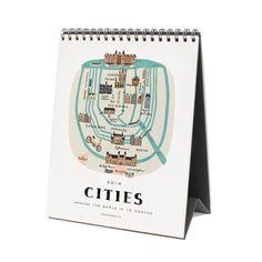 Cities Desk Calendar | dotandbo.com