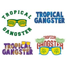 Tropical Gangster Cuttable Design Cut File. Vector, Clipart, Digital Scrapbooking Download, Available in JPEG, PDF, EPS, DXF and SVG. Works with Cricut, Design Space, Cuts A Lot, Make the Cut!, Inkscape, CorelDraw, Adobe Illustrator, Silhouette Cameo, Brother ScanNCut and other software.