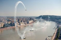 Red Bull Air Race above the Danube River in Budapest, Hungary Budapest City, Budapest Hungary, Air Serbia, Pilot Humor, Event Logistics, Danube River, Fast Times, Red Bull Racing, Air Show