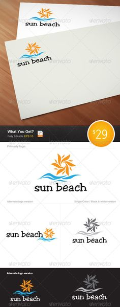 63 Ideas Flowers Logo Design Sun For 2019 Flower Tattoo Back, Flower Logo, Logo Design Template, Logo Templates, Beach Logo, Sun Logo, Furniture Logo, Pink Peonies, Text Color