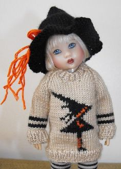 Handknit Witch Sweater Set for Riley Kish  #Unbranded