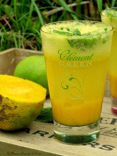 Mango mojito Ti Punch, Mango Mojito, Cocktails, Pint Glass, Cantaloupe, Beer, Tableware, Comme, Pineapple