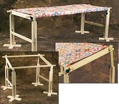 Floor-Standing Quilt Frame - tutorial -- not sure I will ever hand ... : antique quilt frame - Adamdwight.com