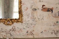 Detail of the Chinese wallpaper hung at Felbrigg Hall in ©National Trust Images/David Kirkham